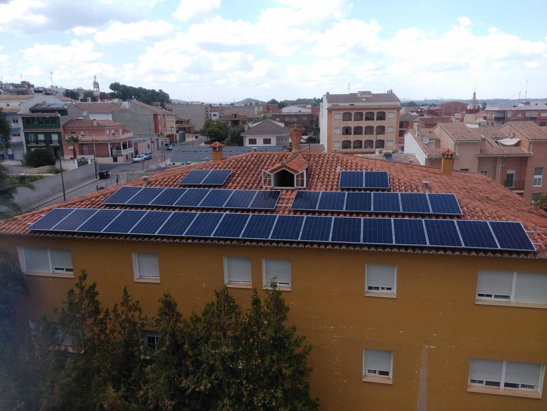 Placas solares en residencial Valencia